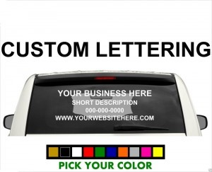 we offer custom vinyl lettering in the fort worth area as well as decals and stickers