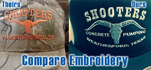 Embroidery custom t shirtscustom t shirts for Custom t shirts fort worth